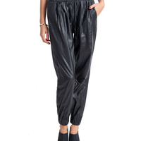 Sporty Leather Sweat Pants | 2020AVE