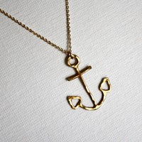 Supermarket: Brass Anchor Necklace from Rachel Pfeffer Designs