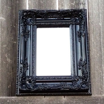 Baroque mirror black frame ornate from frameitbyjill on etsy for Baroque mirror canada