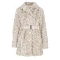 Stone Rose Faux Fur Coat