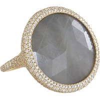 Monique Péan Diamond & Grey Sapphire Oval Ring at Barneys.com