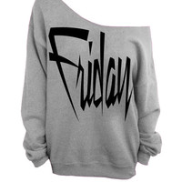 Gray Slouchy Oversized Sweatshirt - Friday