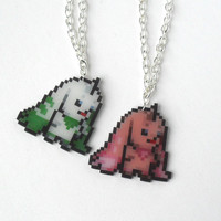 Digimon Lopmon Terriermon friendship charm necklace