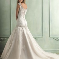 Allure Bridals 9127 Drop Waist Wedding Dress
