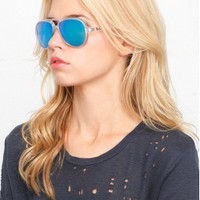 Ray-Ban Cats 5000 59mm Matte Transparent Sunglasses | SINGER22.com