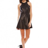 Mason By Michelle Mason Leather Tank Mini Dress | SINGER22.com