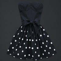 Slim Cute Retro Bow Strapless Dress BAID