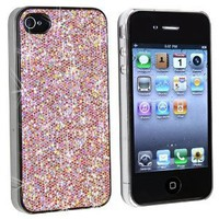 Amazon.com: Snap-on Case Compatible With Apple® iPhone® 4 AT&T, Light Pink Bling: Cell Phones & Accessories