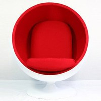 Amazon.com: Lexington Modern Eero Aarnio Style Ball Chair, Red: Home &amp; Kitchen