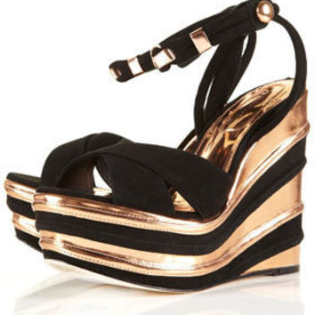 PALAIS Layered Metallic Wedges - Heels - Shoes - Topshop USA