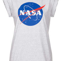 Petite Nasa Badge Print Tee - New In This Week  - New In