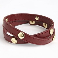 Carole Studded Faux Leather Wrap Bracelet (Juniors) | Nordstrom