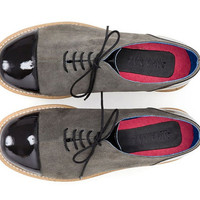 Black & Gray Oxford shoes - Hambergite Oxfords