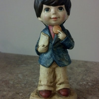 Vintage Figurine, Littl-Ones ACTION Retro Figurine School Boy