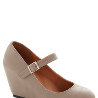 A Simple Smile Wedge in Taupe | Mod Retro Vintage Heels | ModCloth.com