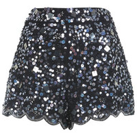 Black Embellished Short - View All  - New In