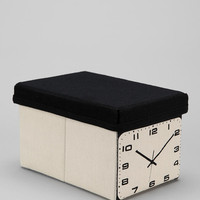 Clock Canvas Storage Box
