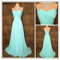 A-line Sweetheart Bridesmaids Dress Chiffon Bridesaids Dresses Cheap Bridesmaids Dress Prom Dress