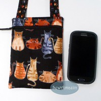 Fabulous Felines Hipster Purse with back pocket and paw print strap