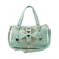 Shi by Journeys Tri Studded Bag, Seafoam Mint, at Journeys Shoes