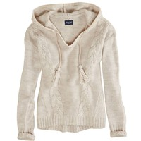 AE Cable Knit Sweater Hoodie | American Eagle Outfitters