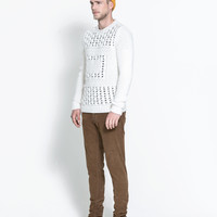 SWEATER WITH OPEN - WORK FRONT - Knitwear - Man | ZARA United States