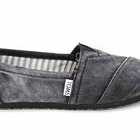 Toms Classics Womens Washed Flat Espadrilles Shoes