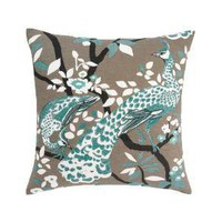 DwellStudio | PEACOCK AZURE PILLOW - Pillows - Home