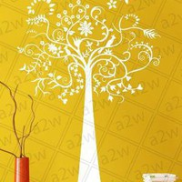 Vinyl Modern Wall Art Long Dreamy Tree Sticker by allwithwall