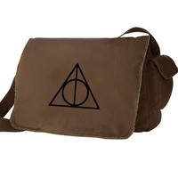 Deathly Hallows Messenger Bag Harry Potter Inspired Large Brown Mes...... | bagnabitbags - Bags & Purses on ArtFire
