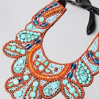 Accessories Boutique The Turquoise Bib Necklace,Jewelry for Women