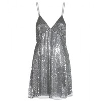 Sequin And Bead Embellished Dress  | Saint Laurent ► mytheresa