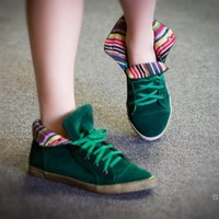 DeBlossom Cassey-9 Lace Up Casual Sneaker (Emerald Green) - Shoes 4 U Las Vegas