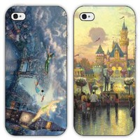 Disney Peter Pan & Disneyland Art Design iPhone 5/5s Plasic hard Case TWO pack