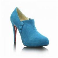 Christian Louboutin C'est Moi Blue Ankle Boots [12033151] - $119.00 : Christian Louboutin Outlet,Luxury brands shoes outlet, Christian Louboutin Outlet,Discount lv shoes,prada shoes outlet