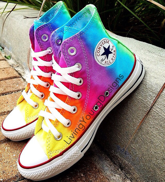 How To Tie Dye Converse Shoes