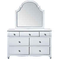 Gabriella Winter White Dresser & Mirror