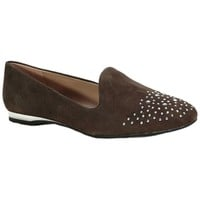 Franco Sarto Garnet Suede Studded Smoking Flat at Von Maur