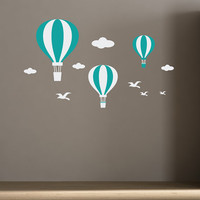 Wall Decals Hot Air Balloons for kids room baby by CherryWalls