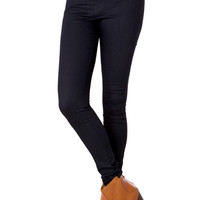 High Waist Skinny Denim in Deep Indigo