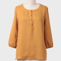 Autumn Light Buttoned Blouse