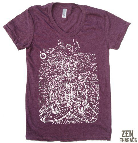 Womens Prana (energy lines) T-Shirt  - Zen Threads