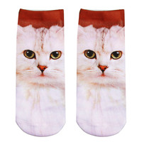 IVORY KITTEN ANKLE SOCKS