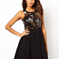 Dress with Embellished Bodice