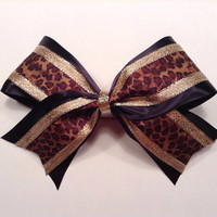 3 inch animal print leopard cheetah cheerleader by 2girls2Tus