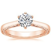 14K Rose Gold Secret Garden Ring
