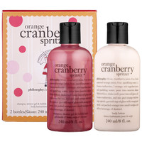 Sephora: Philosophy : Orange Cranberry Spritzer Duo : bath-gift-sets