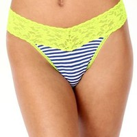 Resort Nautical Mid-Rise Striped Thong