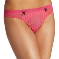 Betsey Johnson Women&#x27;s Stocking Stripe Lo Rise Thong