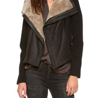 Vince Shearling Collar Moto Jacket | SHOPBOP | Use Code: INTHEFAMILY25 for 25% Off